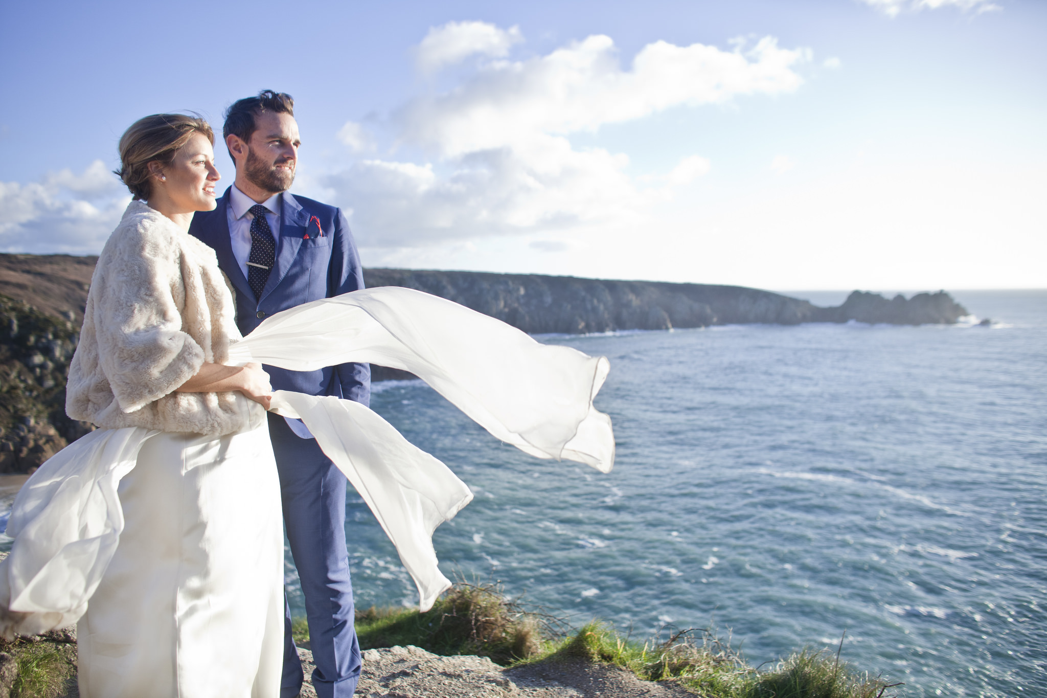 white wedding cornwall